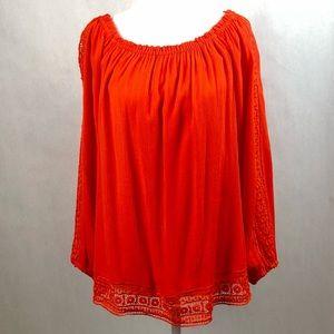 Sanctuary 🍊Elegant Orange Tunic Size M
